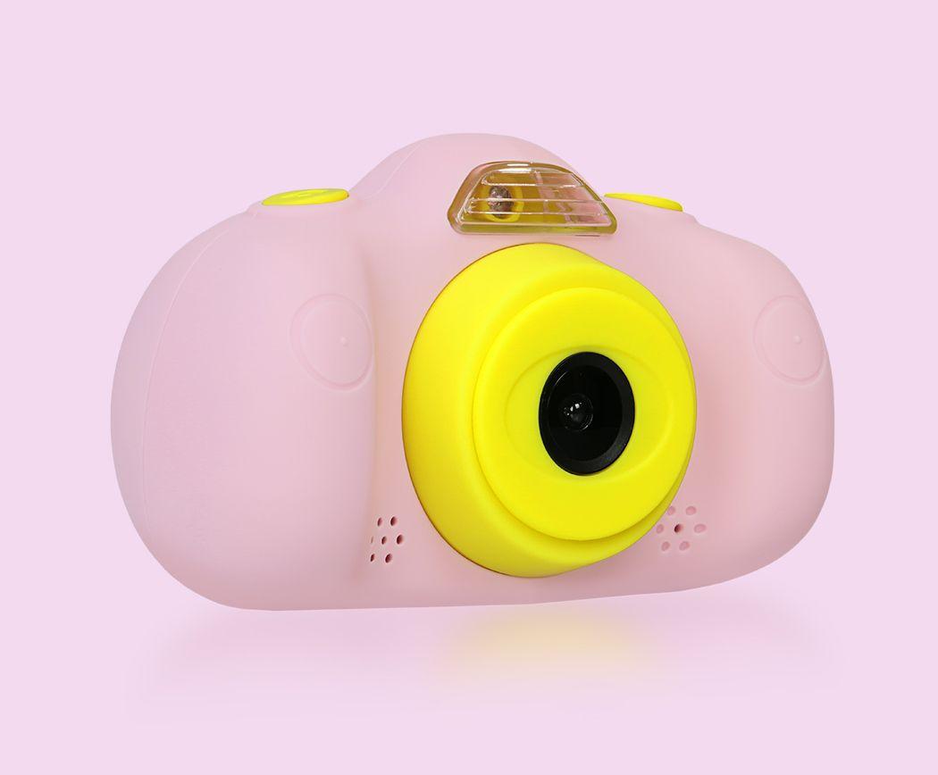 camara de fotos para niños save family rosa lateral