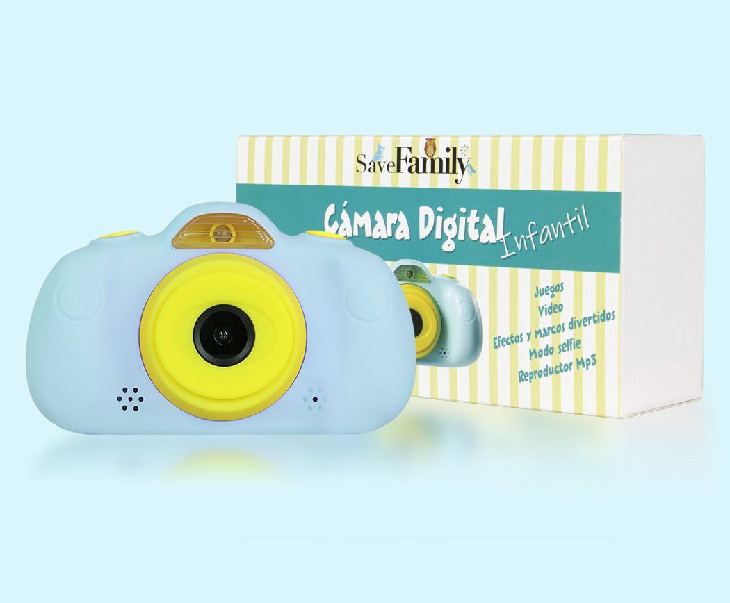 camara de fotos para niños save family frontal y caja azul