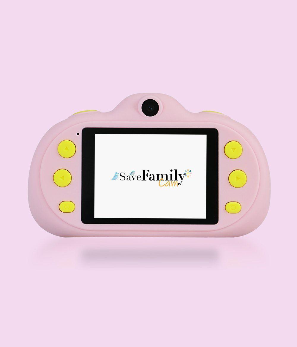 camara de fotos para niños savefamily pantalla rosa