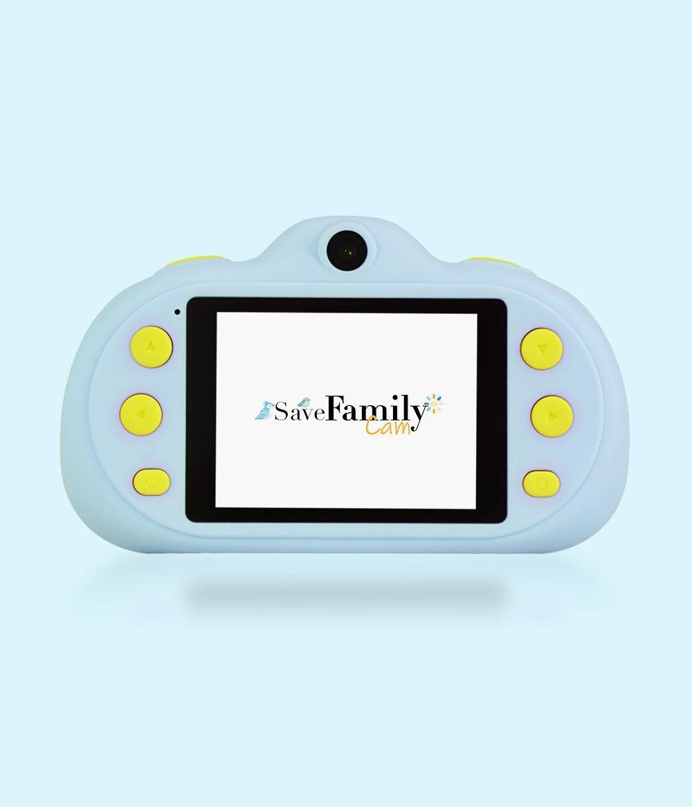 camara de fotos para niños savefamily pantalla azul