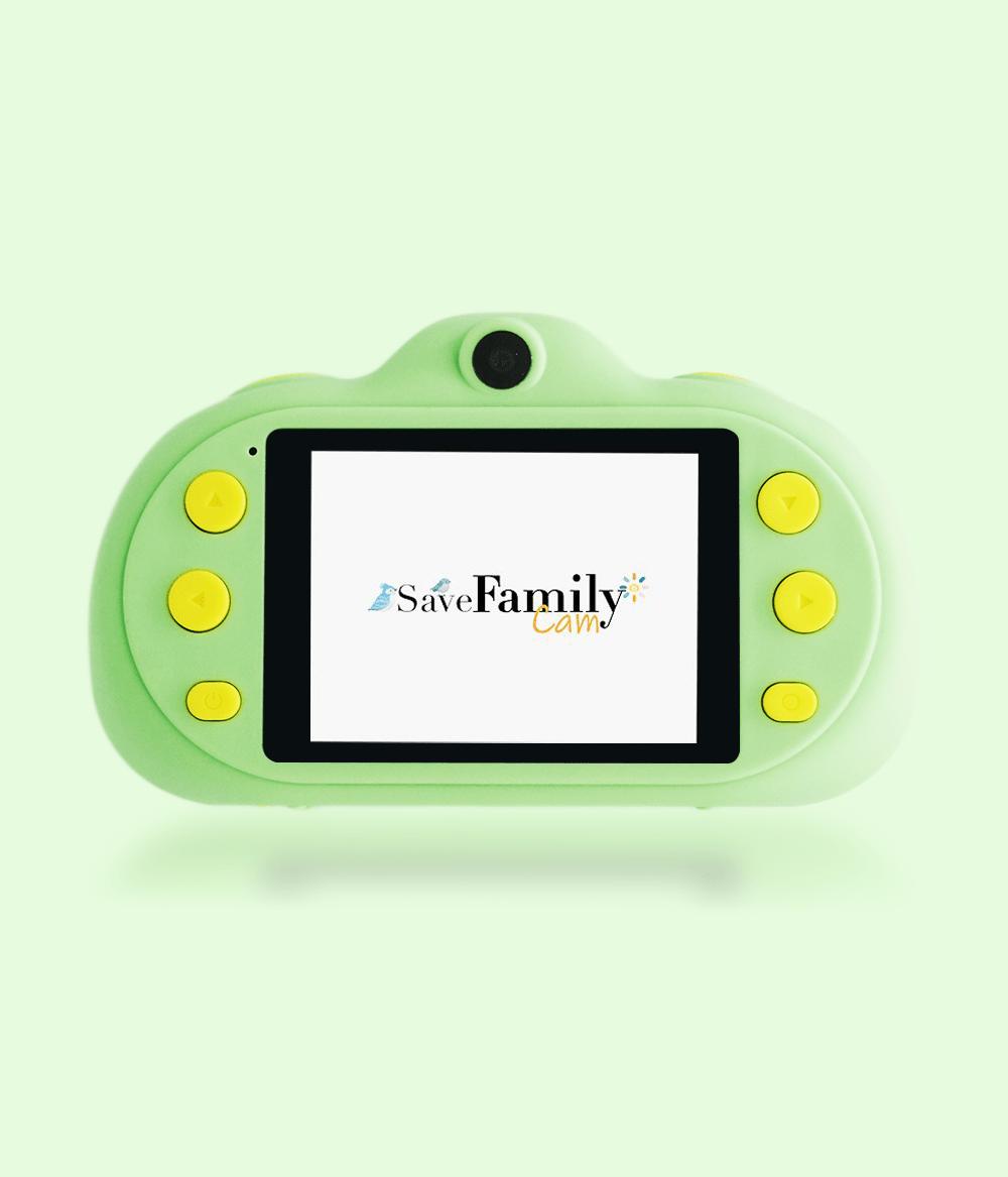 camara de fotos para niños verde pantalla savefamily