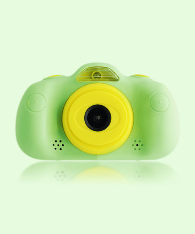 camara de fotos para niños verde frontal savefamily